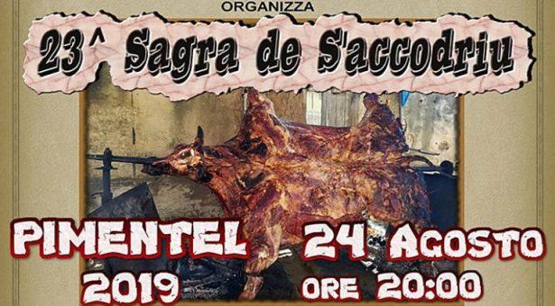 23° SAGRA DE S'ACCODRIU – PIMENTEL – SABATO 24 AGOSTO 2019