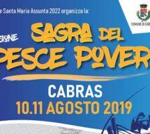 SAGRA DEL PESCE POVERO – CABRAS – 10-11 AGOSTO 2019