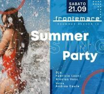 CLOSING SUMMER PARTY – FRONTEMARE – QUARTU SANT'ELENA – SABATO 21 SETTEMBRE 2019