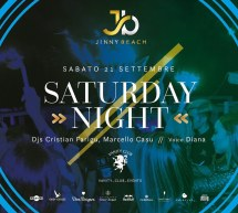 SATURDAY NIGHT – JINNY BEACH – QUARTU SANT'ELENA – SABATO 21 SETTEMBRE 2019