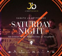 SATURDAY NIGHT – JINNY BEACH – QUARTU SANT'ELENA – SABATO 28 SETTEMBRE 2019