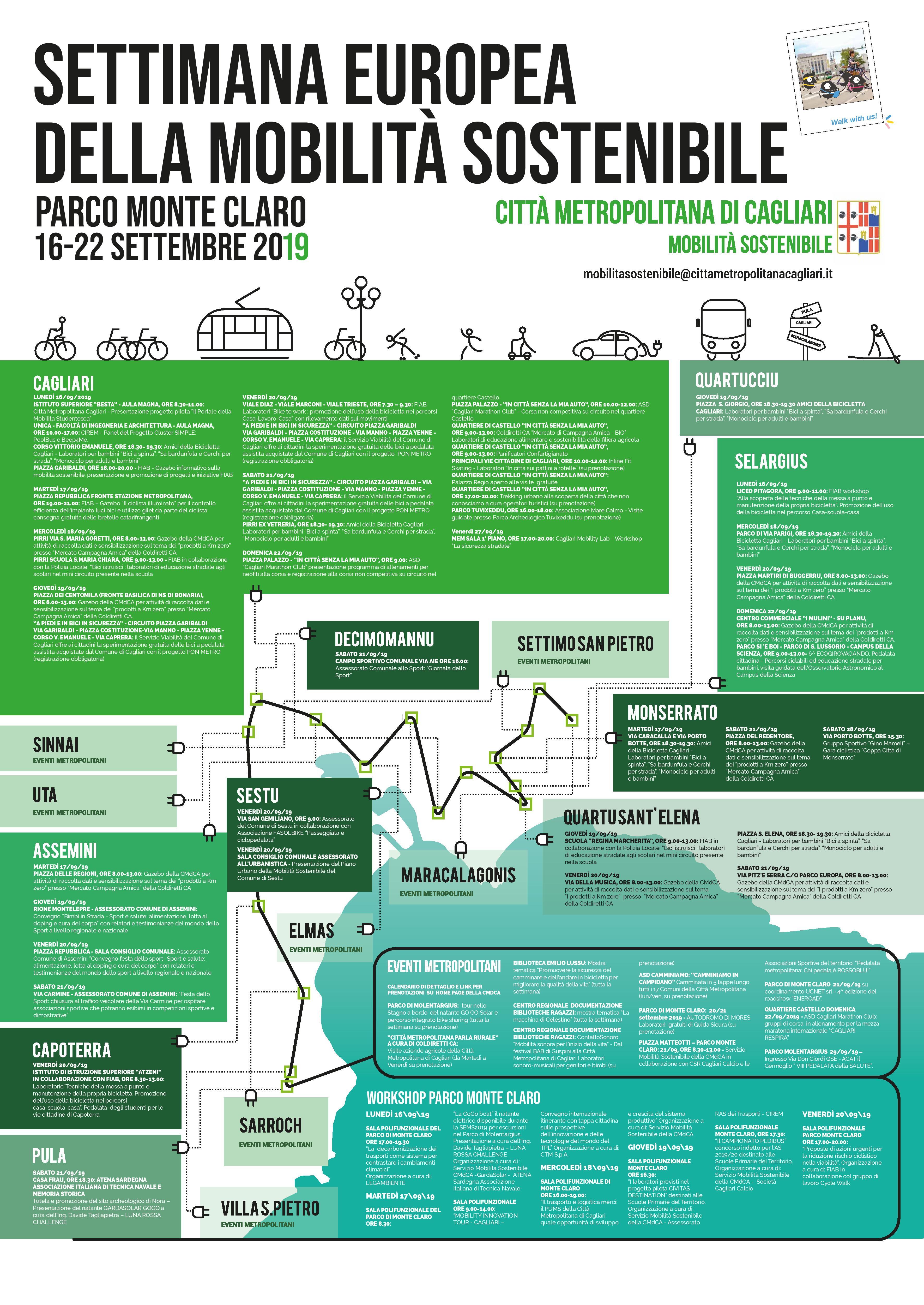 Pagina Di Calendario Settembre 2019.Settimana Europea Della Mobilita Sostenibile A Cagliari