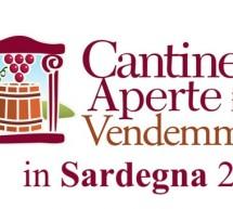 CANTINE APERTE IN VENDEMMIA IN SARDEGNA – 21-29 SETTEMBRE 2019