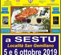 FESTIVAL DELLE PRO LOCO – SESTU – 5-6 OTTOBRE 2019