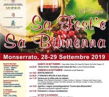 SA FEST'E SA BINNENNA – MONSERRATO – 28-29 SETTEMBRE 2019