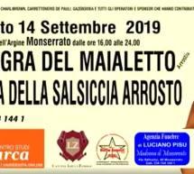 SAGRA DEL MAIALETTO E DELLA SALSICCIA ARROSTO – MONSERRATO – SABATO 14 SETTEMBRE 2019