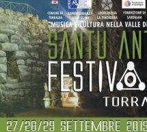 SANTU ANTINE FESTIVAL – TORRALBA – 27-28-29 SETTEMBRE 2019