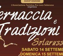 VERNACCIA E TRADIZIONI – SOLARUSSA – 14-15 SETTEMBRE 2019