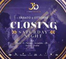 CLOSING PARTY – SATURDAY NIGHT – JINNY BEACH – QUARTU SANT'ELENA – SABATO 5 OTTOBRE 2019