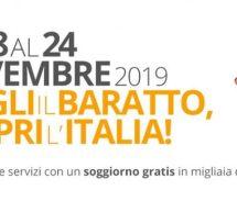 SETTIMANA DEL BARATTO – SCOPRI DOVE DORMIRE GRATIS DAL 18 AL 24 NOVEMBRE 2019