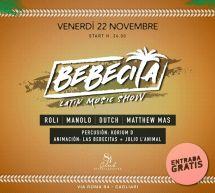BEBECITA LATIN MUSIC SHOW – CLUB 84 – CAGLIARI – VENERDI 22 NOVEMBRE 2019