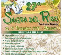 SAGRA DEL RISO – SIMAXIS – 16-17 NOVEMBRE 2019