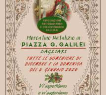 MERCATINO NATALIZIO DI PIAZZA GALILEI – CAGLIARI – TUTTE LE DOMENICHE DI DICEMBRE E DOMENICA 5 GENNAIO 2020