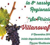 RASSEGNA REGIONALE SU PIRICIO' – VILLANOVAFORRU – SABATO 16 NOVEMBRE 2019