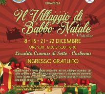 IL VILLAGGIO DI BABBO NATALE-  CARBONIA – 8-15-21-22 DICEMBRE 2019