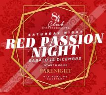 RED PASSION NIGHT – CLUB  84 – CAGLIARI – SABATO 14 DICEMBRE 2019