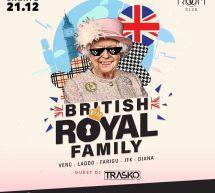 BRITISH ROYAL FAMILY – ROOM CLUB – CAGLIARI – SABATO 21 DICEMBRE 2019