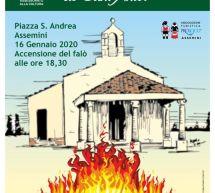 FOGADONI DE SANT'ANTOI – ASSEMINI – GIOVEDI 16 GENNAIO 2020