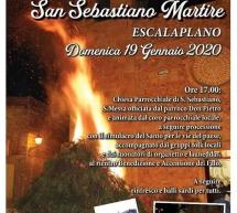 FESTEGGIAMENTI IN ONORE DI SAN SEBASTIANO – ESCALAPLANO – DOMENICA 19 GENNAIO 2020