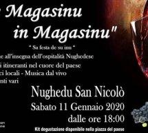 DAE MAGASINU IN MAGASINU – NUGHEDU SAN NICOLO' – SABATO 11 GENNAIO 2020