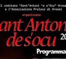 SANT'ANTONI DE S'OCU – OROSEI – 16-19 GENNAIO 2020