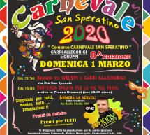 CARNEVALE  2020 A SAN SPERATE – DOMENICA 1 MARZO 2020