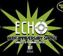 ECHO 80 -18th ANNIVERSARY – BFLAT – CAGLIARI – SABATO 8 FEBBRAIO 2020