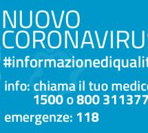 NUMERO DI TELEFONO DELLE EMERGENZE PER CORONAVIRUS