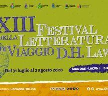 XIII FESTIVAL DELLA LETTERATURA DI VIAGGIO D.H. LAWRENCE – 31 LUGLIO -2 AGOSTO 2020