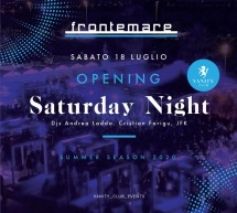 OPENING SATURDAY NIGHT – FRONTEMARE – QUARTU SANT'ELENA – SABATO 18 LUGLIO 2020