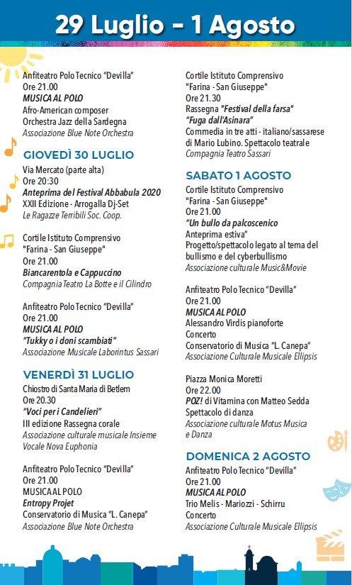 eventi_estate_sassari_29_luglio_01_agosto_2020
