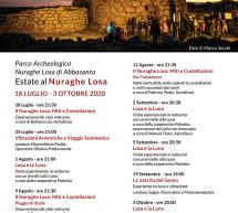 ESTATE 2020 AL NURAGHE LOSA DI ABBASANTA -18 LUGLIO -3 OTTOBRE 2020