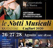LE NOTTI MUSICALI – CAGLIARI – 26-27-28 AGOSTO 2020