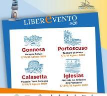 LIBEREVENTO – GONNESA, PORTOSCUSO, CALASETTA,IGLESIAS – 2-23 AGOSTO 2020