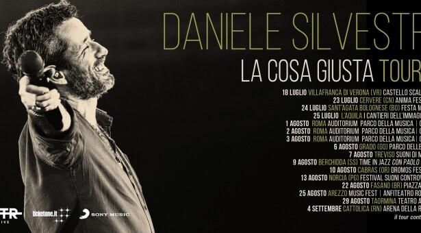 DANIELE SILVESTRI, CONCERTI A TEMPIO E CABRAS – 9-10 AGOSTO 2020
