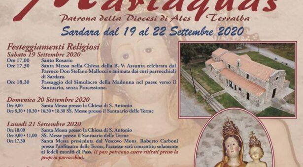 FESTA DI SANTA MARIAQUAS – SARDARA- 19-22 SETTEMBRE 2020