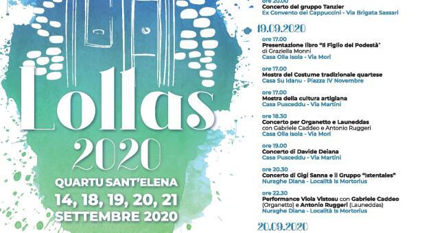 LOLLAS- QUARTU SANT'ELENA – 18-21 SETTEMBRE 2020