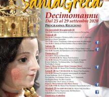 FESTA DI SANTA GRECA – DECIMOMANNU – 25-29 SETTEMBRE 2020