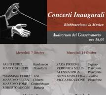 CAGLIARI RIABBRACCIA LA MUSICA – AUDITORIUM CONSERVATORIO – MERCOLEDI 7 e 14 OTTOBRE 2020