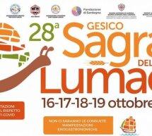 28° SAGRA DELLA LUMACA – GESICO – 16-19 OTTOBRE 2020