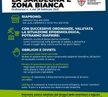 SARDEGNA ZONA BIANCA DA LUNEDI 1 MARZO 2021 -ECCO L'ORDINANZA