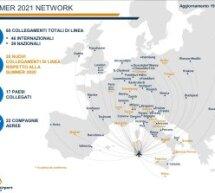 NETWORK DEI VOLI SUMMER 2021 DELL'AEROPORTO DI CAGLIARI ELMAS