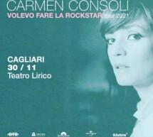 CARMEN CONSOLI IN CONCERTO – TEATRO LIRICO – CAGLIARI – MARTEDI 30 NOVEMBRE 2021