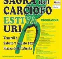 SAGRA ESTIVA DEL CARCIOFO -URI -6-7 AGOSTO 2021