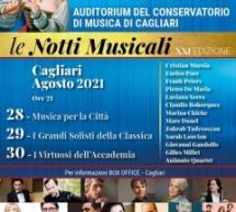 LE NOTTI MUSICALI – CAGLIARI-28-29-30 AGOSTO 2021