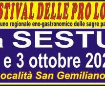 FESTIVAL DELLE PRO LOCO -SESTU -2-3 OTTOBRE 2021