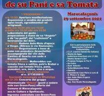 SAGRA DE SU PANI E SA TOMATA – MARACALAGONIS – DOMENICA 19 SETTEMBRE 2021