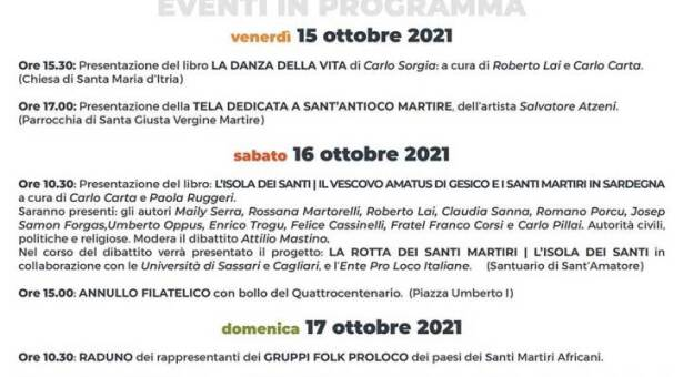 SAGRA DELLA LUMACA – GESICO – 15-18 OTTOBRE 2021